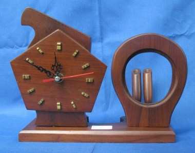 Desk clock and penholder-S256