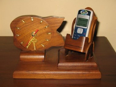 Desk clock with cellphone holder-S12